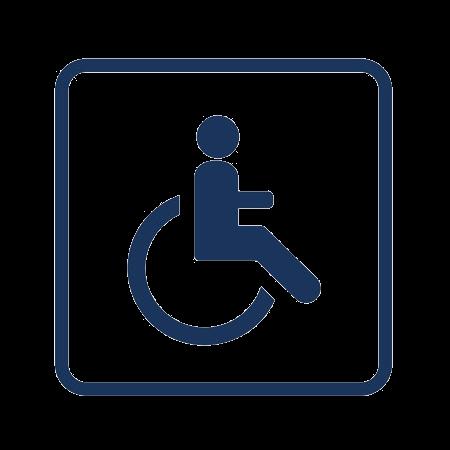 Logo mobilité réduite