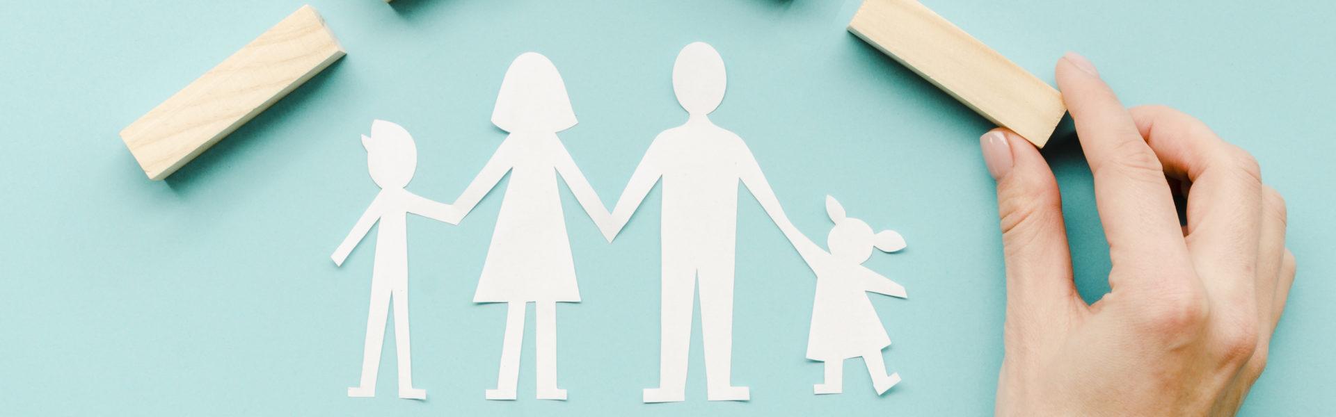 Illustration famille protégée